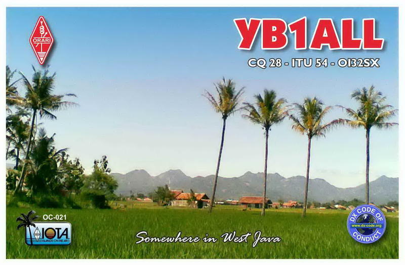 QSL image for YB1ALL