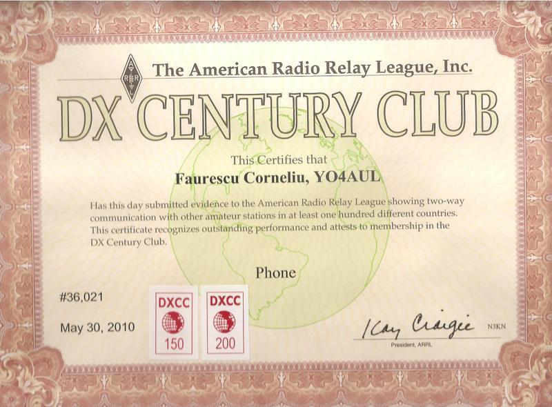 DXCC Phone Award