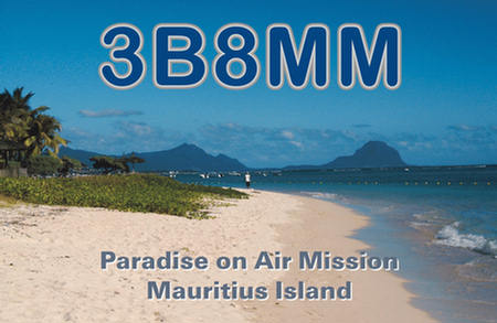 QSL image for 3B8MM