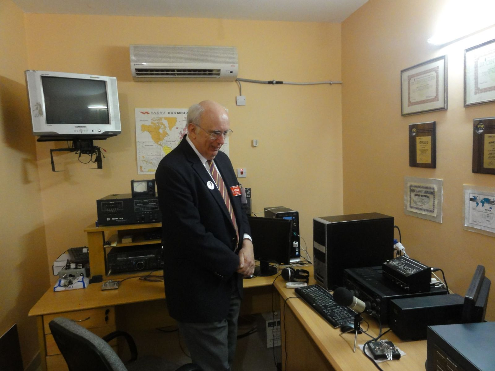 Jay Bellows, KOQB , ARRL Vice President, International Affairs  in my shack