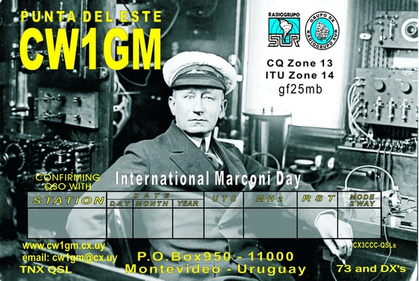 QSL image for CW1GM