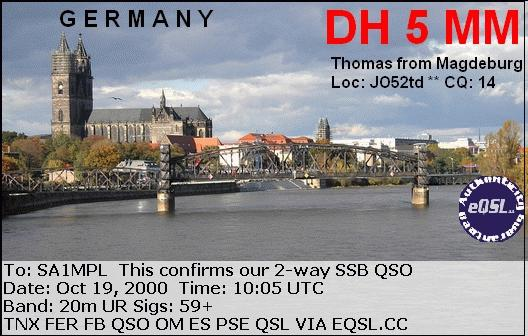 QSL image for DH5MM