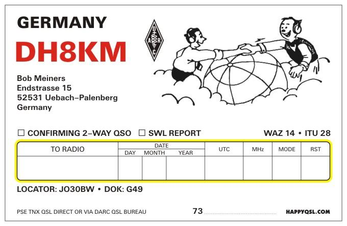 QSL image for DH8KM