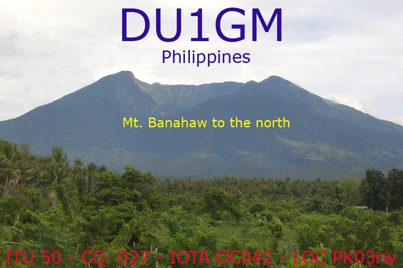 QSL image for DU1GM