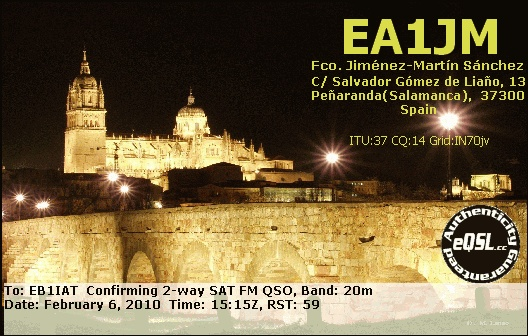 QSL image for EA1JM