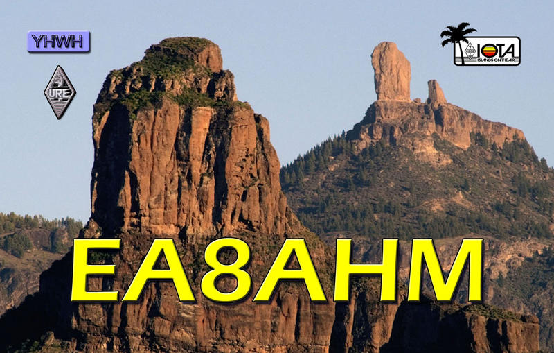 QSL image for EA8AHM