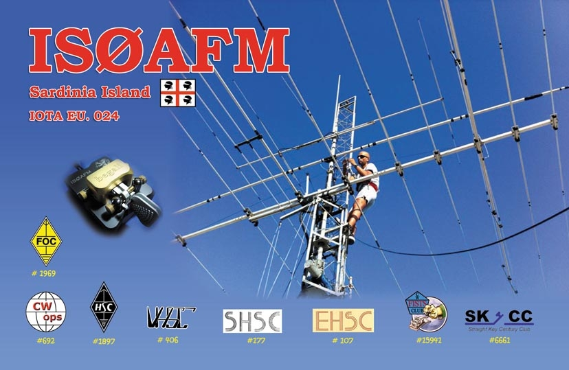 QSL image for IS0AFM