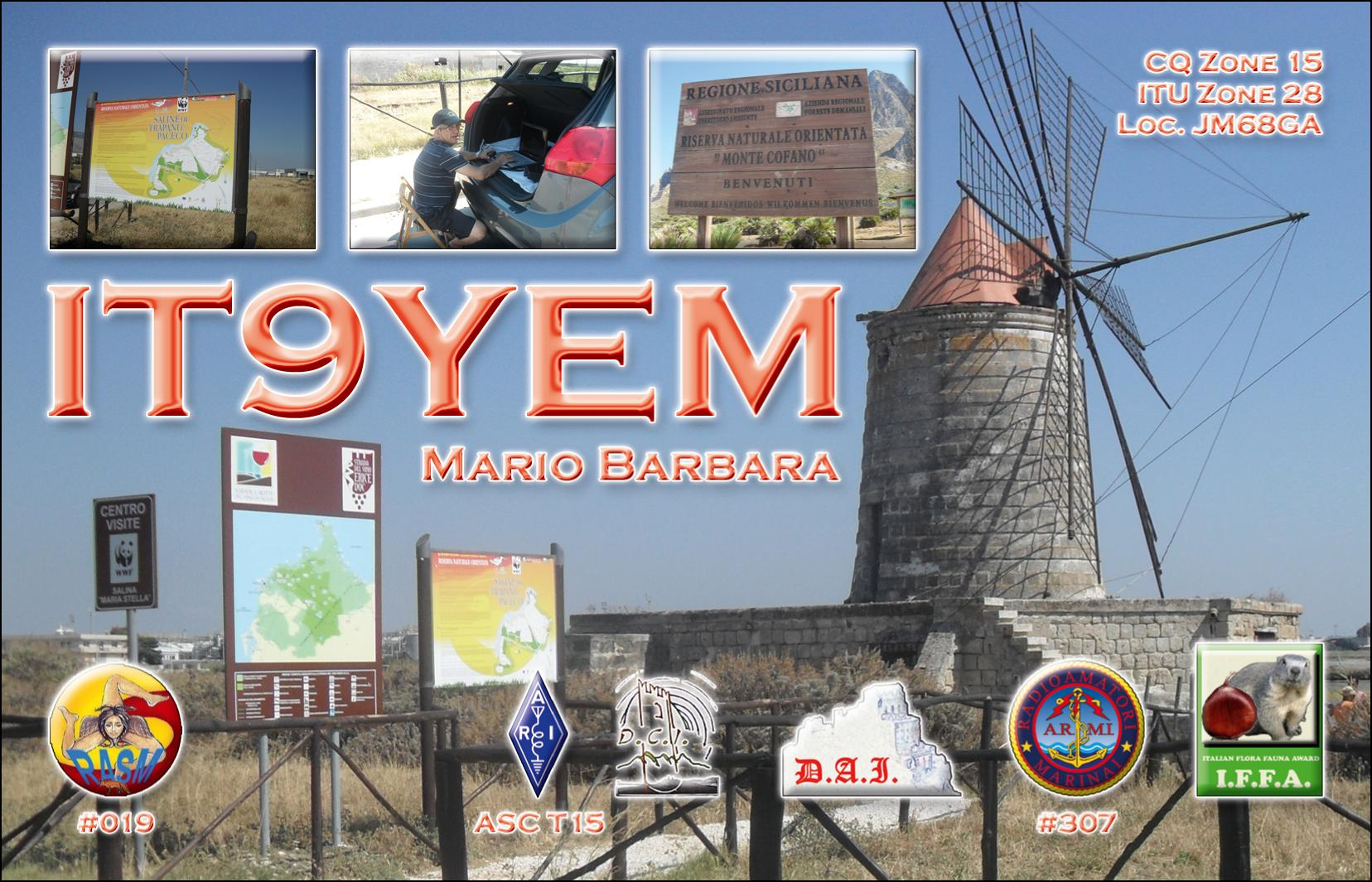 QSL image for IT9YEM