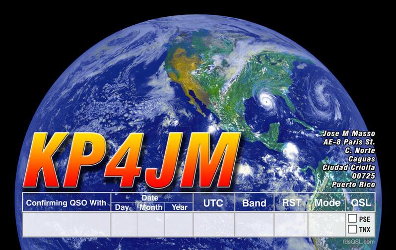 QSL image for KP4JM