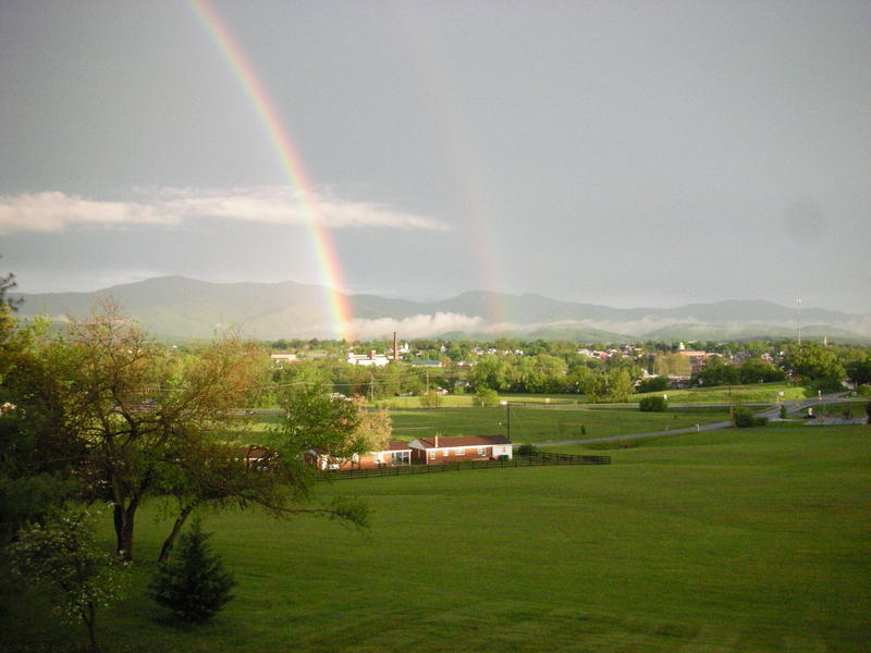 Rainbow Over the Town of Luray