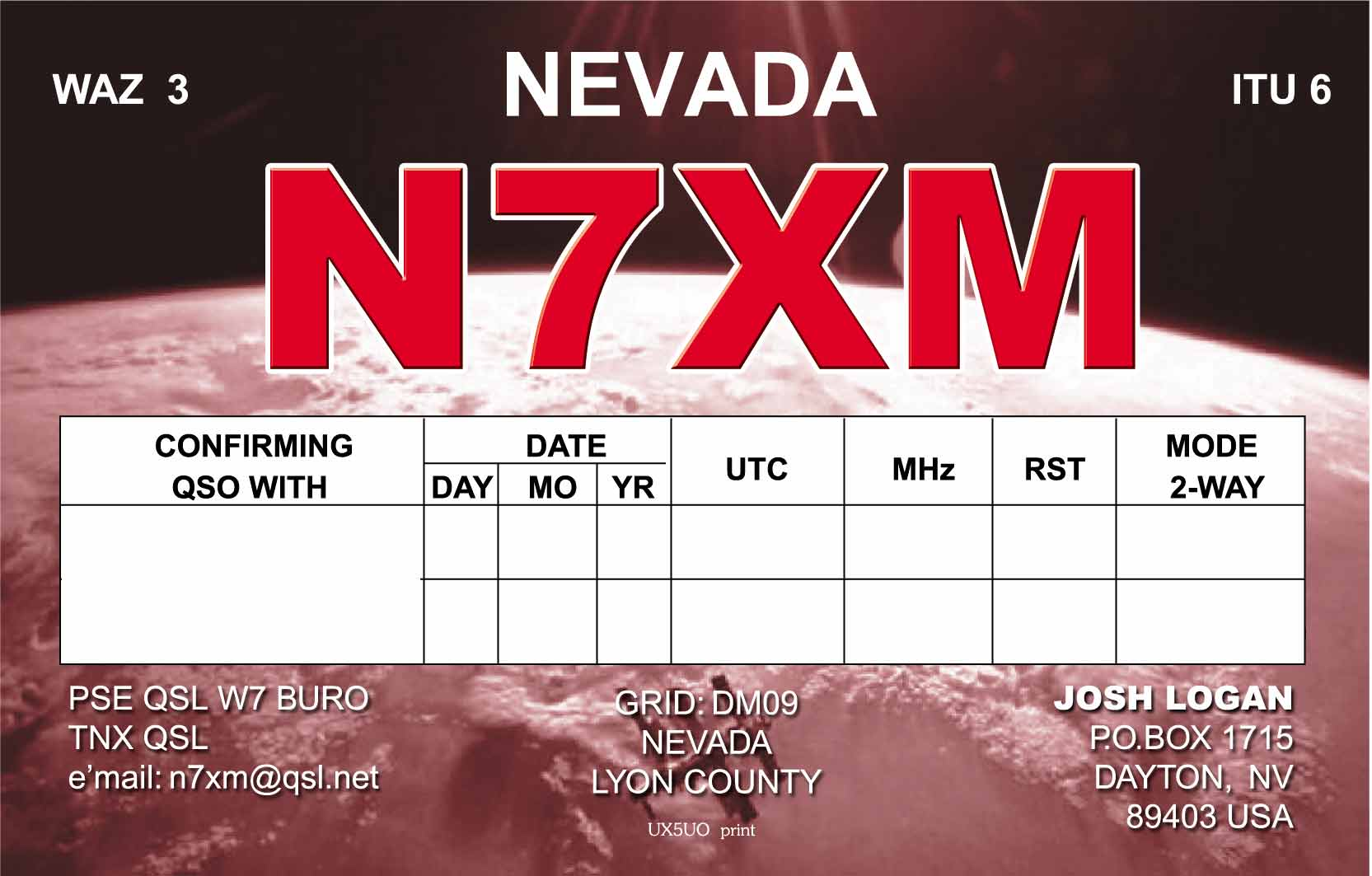 QSL image for N7XM