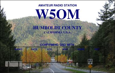 QSL image for W5OM