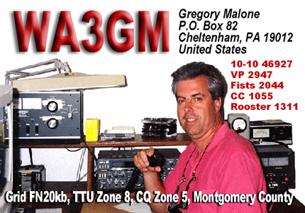 QSL image for WA3GM