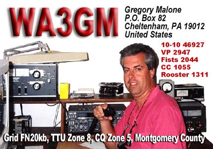 QSL image for WA3GM