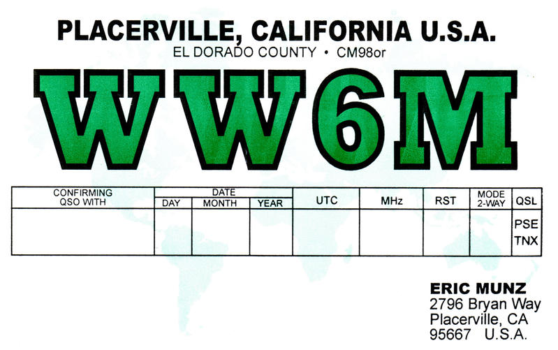 QSL image for WW6M