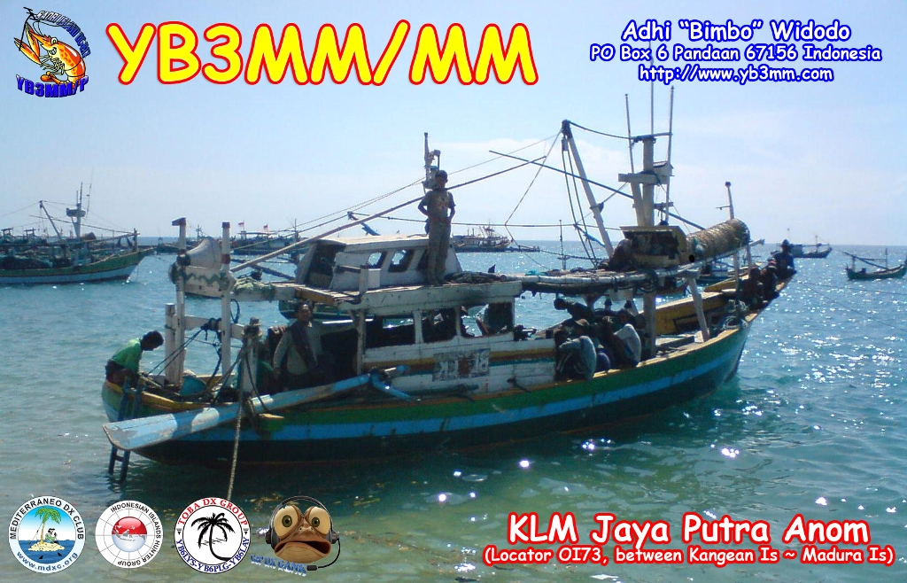 QSL image for YB3MM
