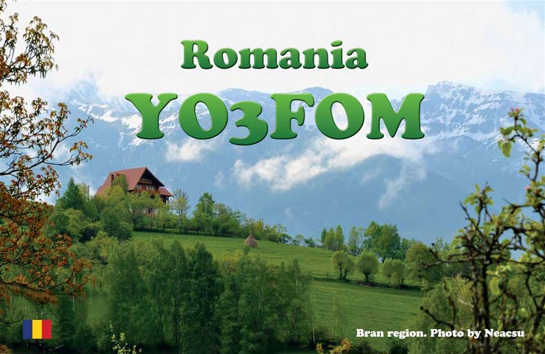 QSL image for YO3FOM