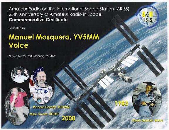 Diploma por contacto con la ISS en Voz