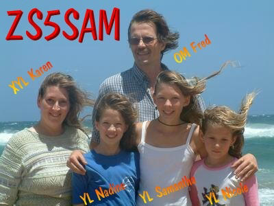 QSL image for ZS5SAM