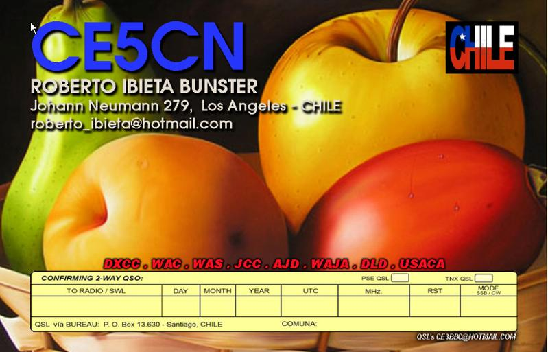 QSL image for CE5CN