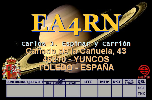 QSL image for EA4RN