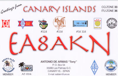 QSL image for EA8AKN
