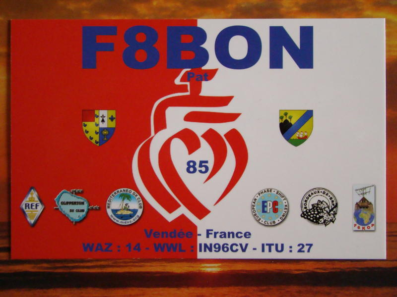 QSL image for F8BON