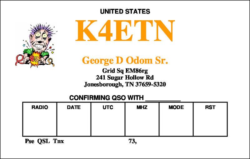 QSL image for K4ETN