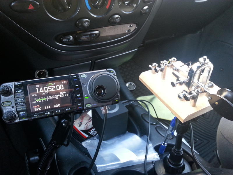 IC7000 and paddle mount