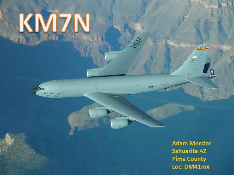 QSL image for KM7N