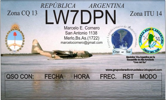 QSL image for LW7DPN