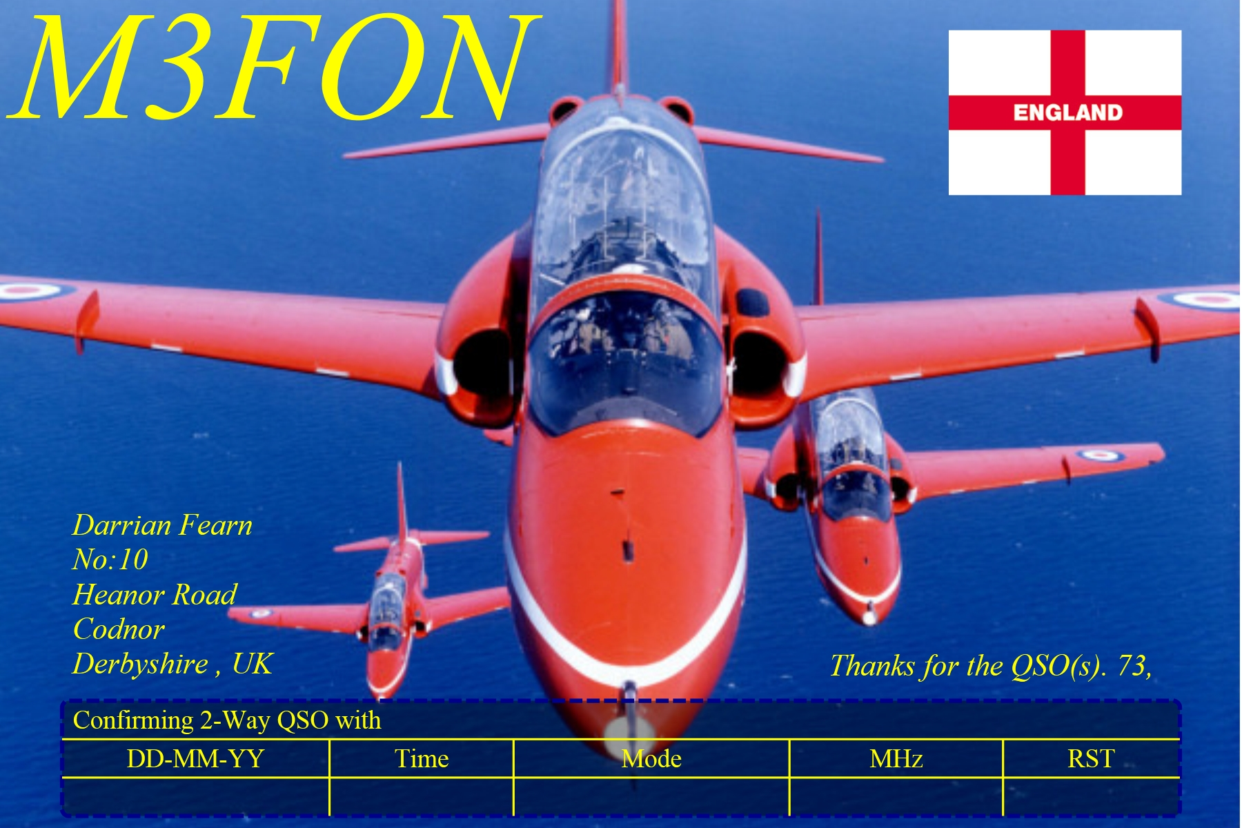 QSL image for M3FON