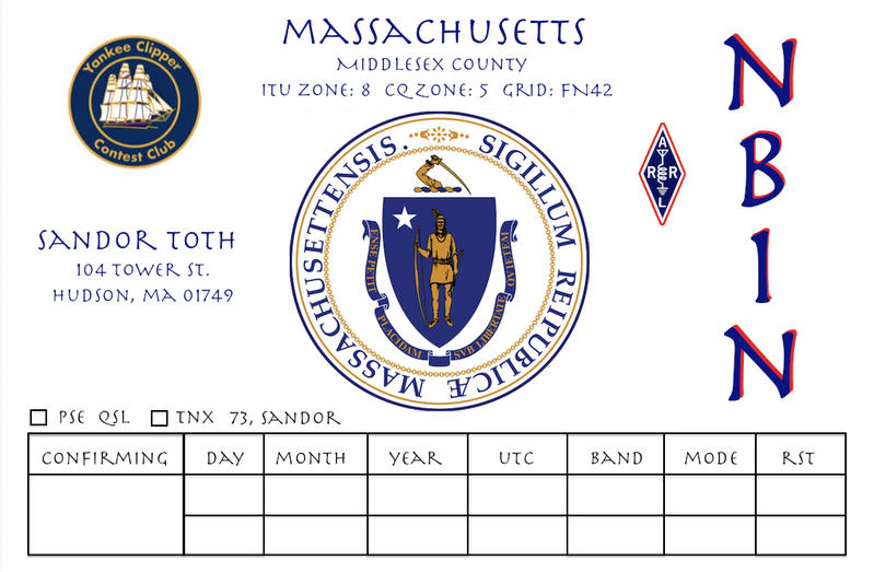 QSL image for NB1N