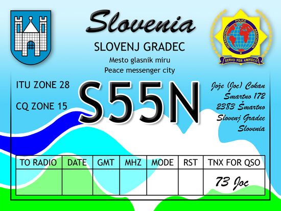 QSL image for S55N