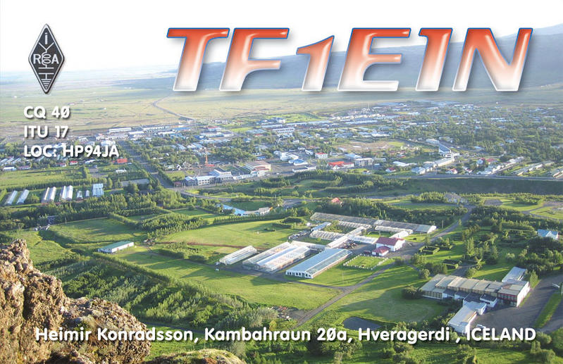 QSL image for TF1EIN