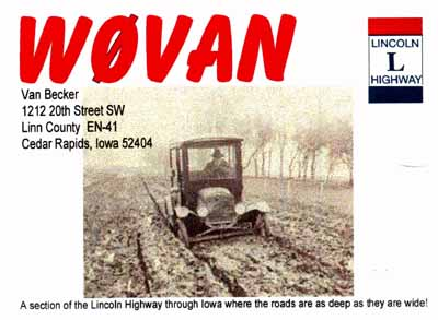 QSL image for W0VAN