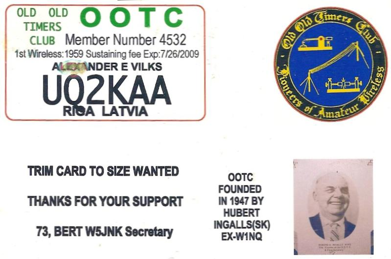 My 1st Elmer in HAM radio and SWLing was Alex, UQ2-22317, manager of UQ2 QSL ...