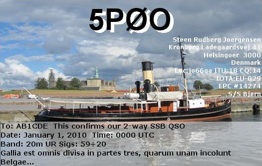 QSL image for 5P0O