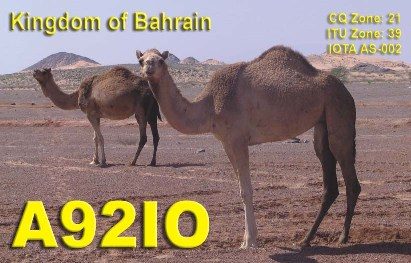 QSL image for A92IO