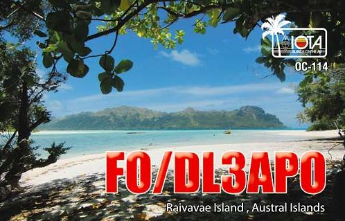 QSL image for DL3APO
