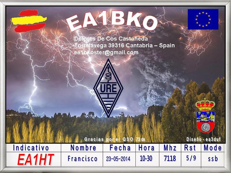 QSL image for EA1BKO