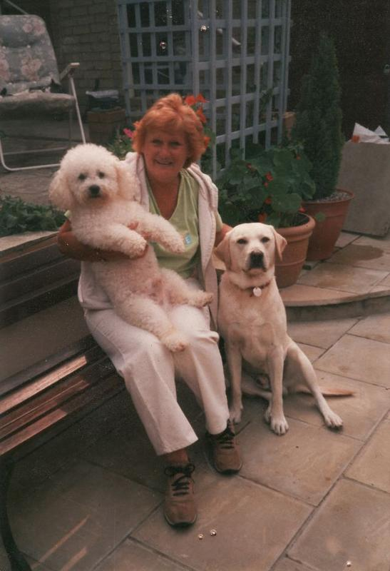 My Wife Sandra with Joe the Bichon (Died Christmas 2012 and Toby Died 2014, miss them both so much)