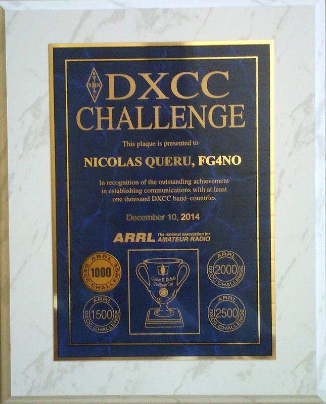 FG4NO ARRL DXCC CHALLENGE