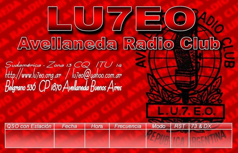 QSL image for LU7EO