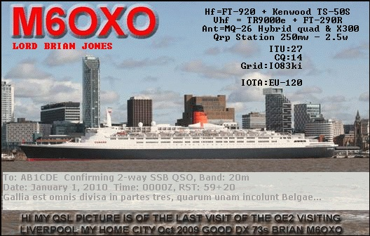QSL image for M6OXO