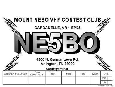 QSL image for NE5BO