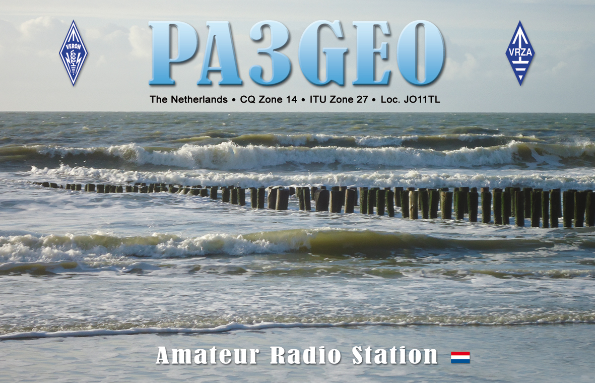 QSL image for PA3GEO