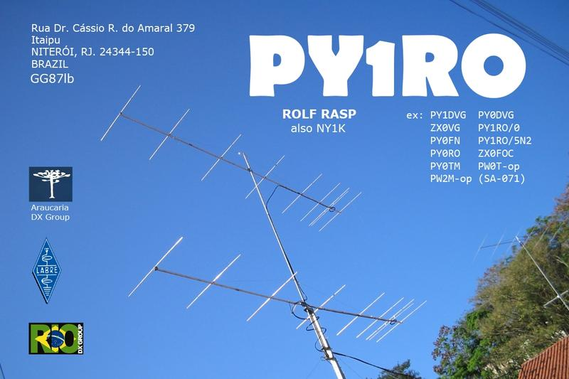 QSL image for PY1RO