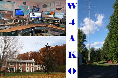 QSL image for W4AKO