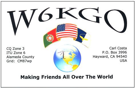 QSL image for W6KGO